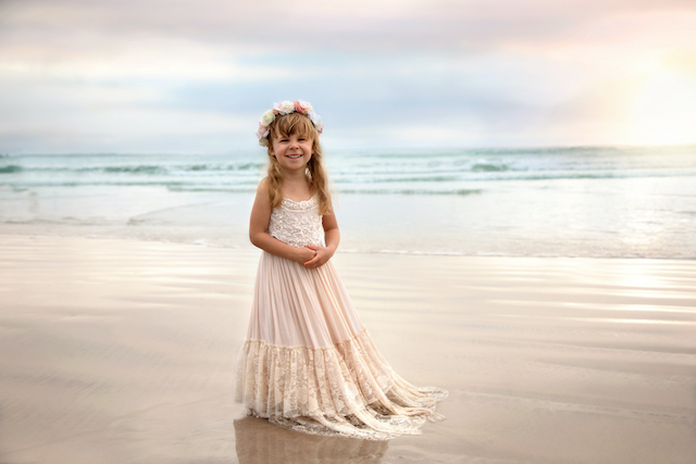 Child Portrait on the Beach