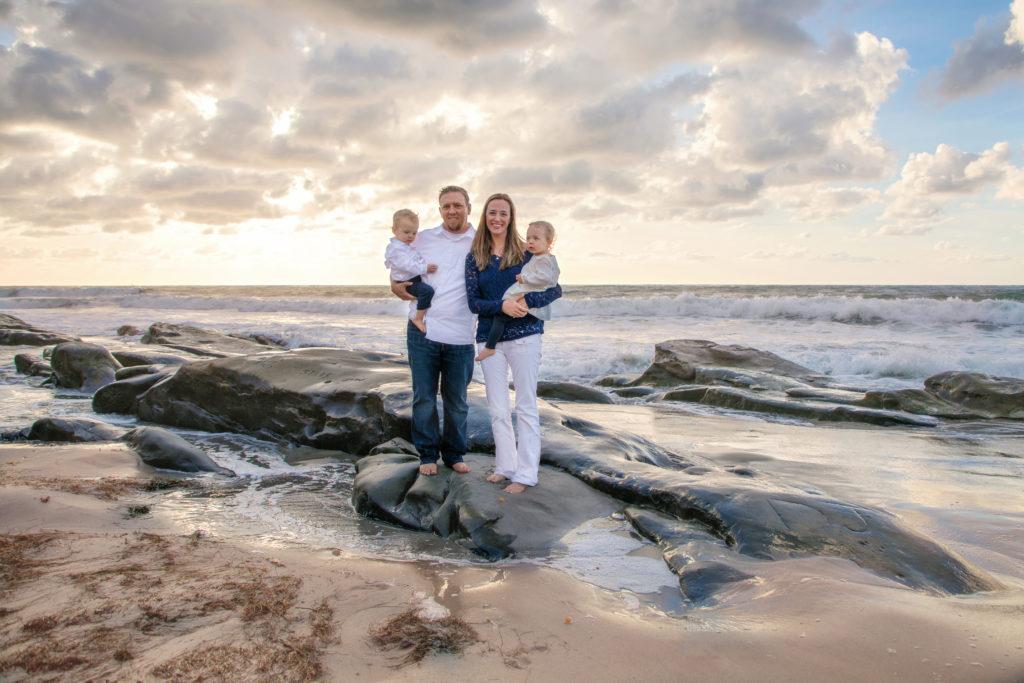 Family photo shoot on the beach at Windandsea